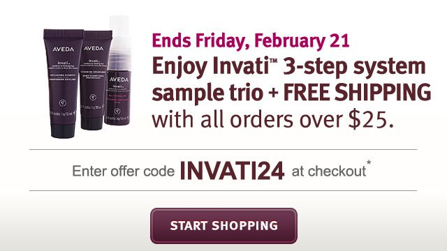 enjoy invati 3 step system sample trio + free shipping with all orders over $25. start shopping.