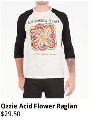 Ozzie Acid Flower Raglan
