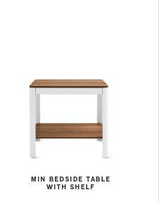 Min Bedside Table with Shelf