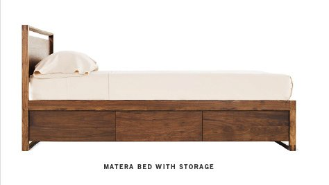 Matera Bed with Stoarage