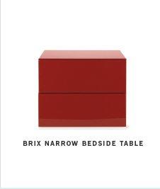Brix Narrow Bedside Table