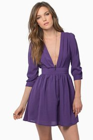 Stroll Along Deep V Dress 42