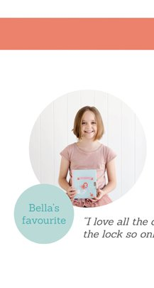 """Bella's favourite """"I love all the decorated pages & the lock so only I can read it"""""""