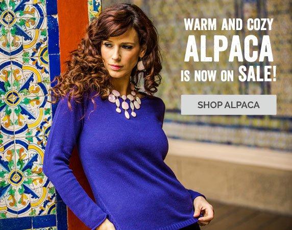 Warm And Cozy Alpaca Is Now On SALE! Shop Alpaca