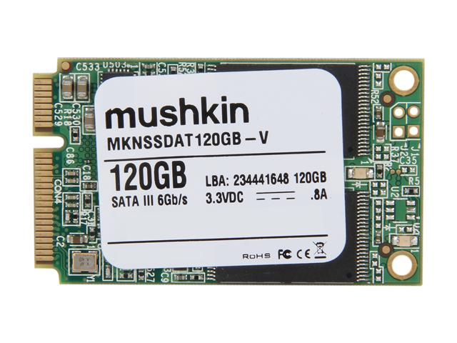 Mushkin Enhanced Atlas Series MKNSSDAT120GB-V mSATA MLC Internal Solid State Drive (SSD)