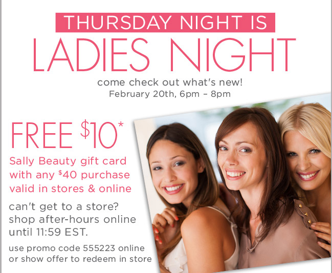 Thursday night is ladies night