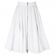 GIVENCHY - Flared piqué stretch cotton skirt