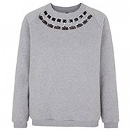 MOTHER OF PEARL - Embellished cotton sweatshirt