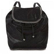 STELLA MCCARTNEY - Lamé faux suede backpack