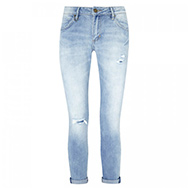 NEUW - Mid-rise distressed straight leg jeans