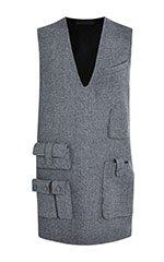 Sleeveless Tunic Dress With Multi Cargo Pockets
