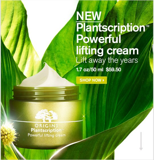 NEW Plantscription Powerful lifting cream Lift away the years 1 7 oz 50 ml 59 dollars and 50 cents SHOP NOW
