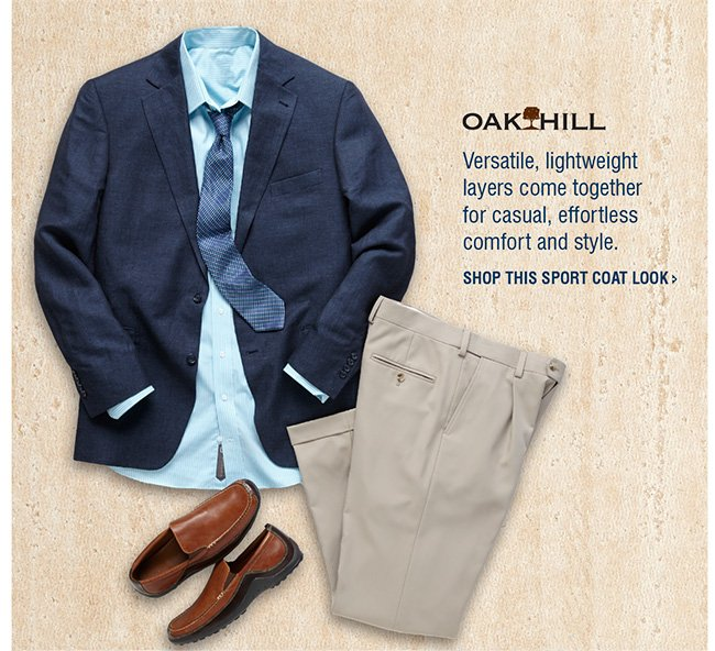 SHOP OAK HILL LINEN SPORT COAT LOOK