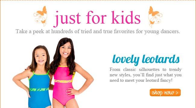 Shop kids leotards.