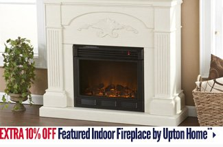 Extra 10% off Featured Indoor Fireplace by Upton Home**
