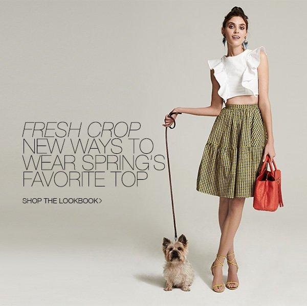 4 fresh ways to wear the crop top. >>