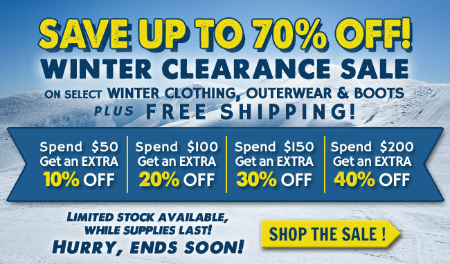 Save Up To 70% OFF Clearance Products + FREE Shipping This Week!