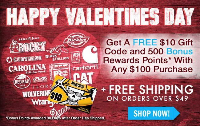 Get A FREE $10 Gift Card + 500 Bonus Rewards Points With Any $100 Purchase!
