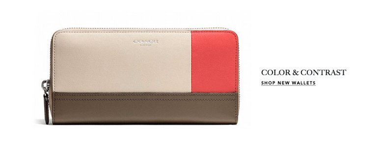 COLOR & CONTRAST - SHOP NEW WALLETS