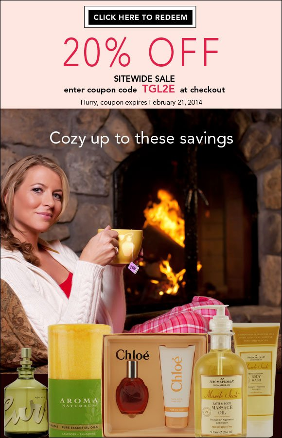 Join our 20% OFF Fireside Sale at FragranceNet.com