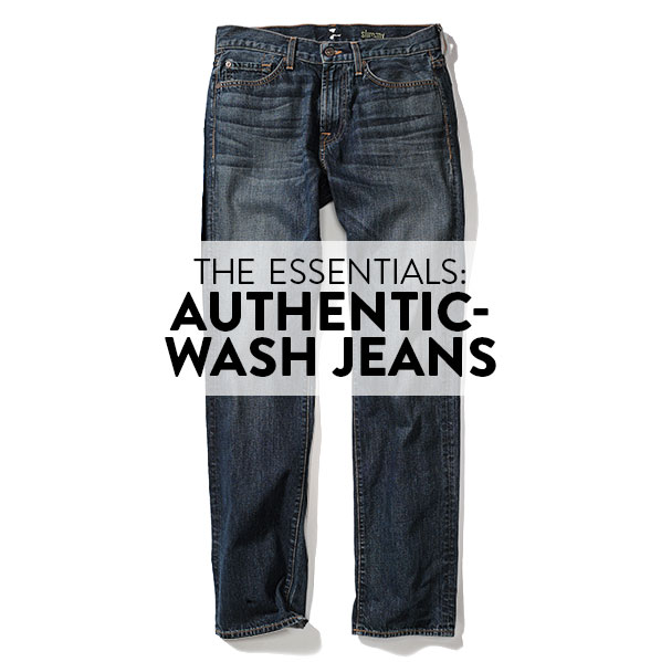 THE ESSENTIALS: AUTHENTIC-WASH JEANS
