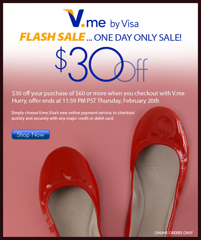 $30 off $60 with V.me!