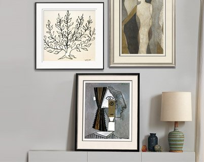 Le Buisson By: Henri Matisse; Tete de Femme By: Pablo Picasso; FIGURE OVERLAY I By: Megan Meagher