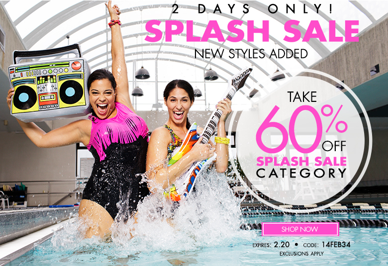2 days only - splash sale - new styles added