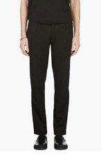 ANN DEMEULEMEESTER Black Cropped Tuxedo Trousers for men