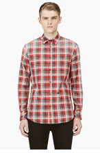 DSQUARED2 Red Faded Plaid Shirt for men