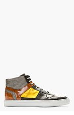 TIM COPPENS Grey Panelled Common Projects Edition High-Top Sneakers for men