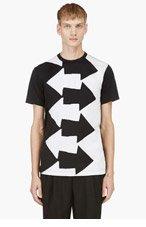 COMME DES GARÇONS HOMME PLUS Black & White Arrow T-Shirt for men