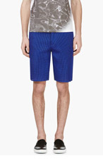 CALVIN KLEIN COLLECTION SSENSE Exclusive Cobalt Blue Mesh Shorts for men