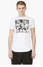 DSQUARED2 White TWIN BABY PIC t-shirt for men