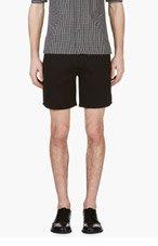 NEIL BARRETT Black Neoprene Shorts for men