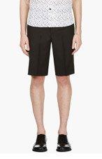 KRISVANASSCHE Black Tuxedo Shorts for men