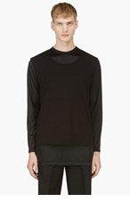 COMME DES GARÇONS HOMME PLUS Black Layered Long Sleeve T-Shirt for men