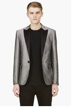 DSQUARED2 Silver Disc Embroidered Blazer for men