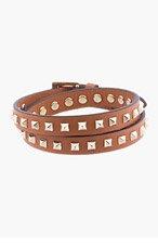 VALENTINO Tan Studded Wrap Bracelet for men