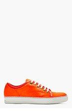 LANVIN Vermilion Calf-Hair Sneakers for men