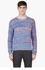 KENZO Mauve Knit Crewneck Sweater for men