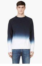 ACNE STUDIOS Navy Ombre College Degrade Sweater for men