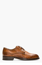 H BY HUDSON Tan Burnished Leather Beacon Shoes for men