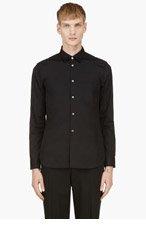 COMME DES GARÇONS HOMME PLUS Black Ripped-shoulder shirt for men