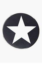 GIVENCHY Black & White Star Badge Button for men