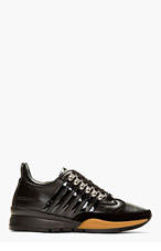 DSQUARED2 BLACK Overlaced Kick It SNEAKERS for men