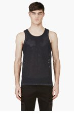 CALVIN KLEIN COLLECTION SSENSE Exclusive Navy Perforated Tank Top for men