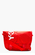 Y-3 Red Logo Messenger Bag for men