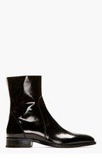 DSQUARED2 Black Leather Bond Street Ankle Boots for men