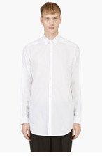 ANN DEMEULEMEESTER White Semi-Sheer Cotton Button Down Shirt for men